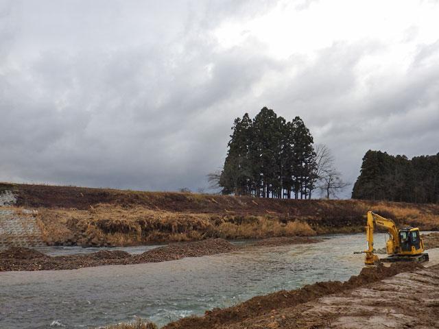 河川改良工事 横手市黒川の施工前写真