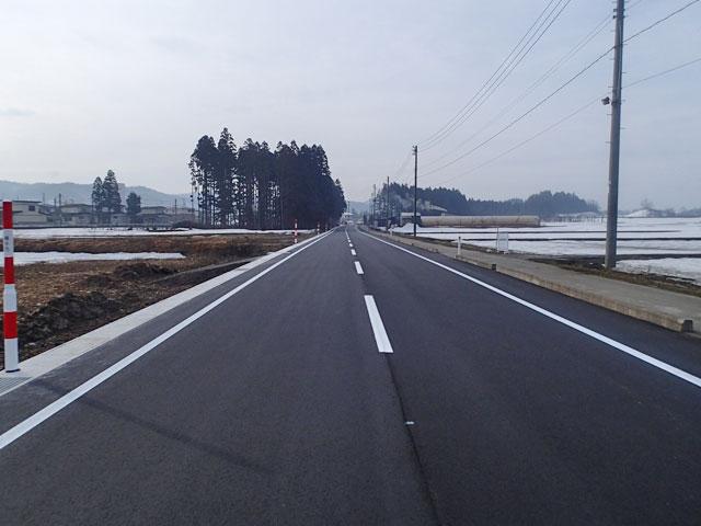 市道堤美砂古線改良工事の施工後写真
