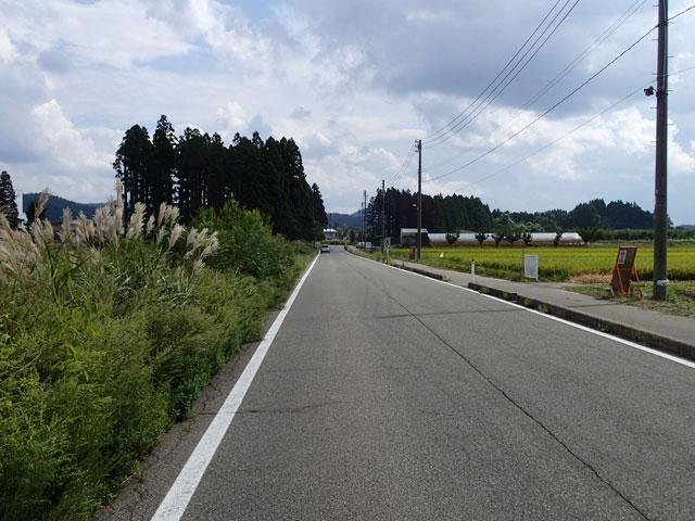 市道堤美砂古線改良工事の施工前写真